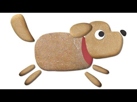 Tierfiguren aus Kieselsteinen - Labo Kiesel Kunst App für Kinder