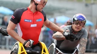Nottwil Switzerland  city photos gallery : Marcel Hug beats David Weir over 1,500m T54 in Nottwil