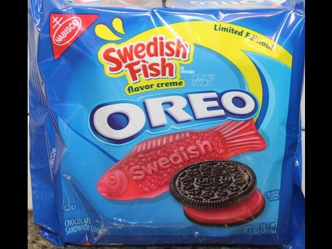 Video swedish fish oreo cookie review for Swedish fish oreos where to buy