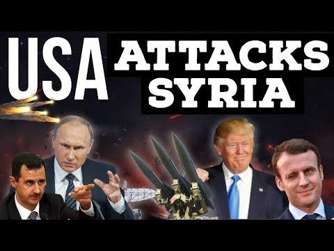 USA Attacks Syria - US, France और Britain ने SYRIA पर किया अटैक - How did Russia respond ?