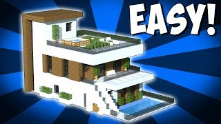 Minecraft: How To Build A Large Modern House Tutorial (2018)
