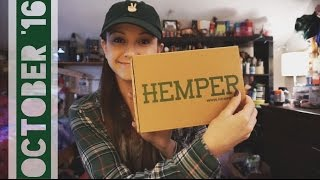 Hemper Unboxing: October 2016 by Silenced Hippie