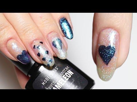 Gel nails - Valentine's Day Duochrome Gel Polish Nail Art