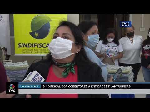 Sindifiscal/MS Solidário entrega cobertores a entidades carentes – Matéria do JP News