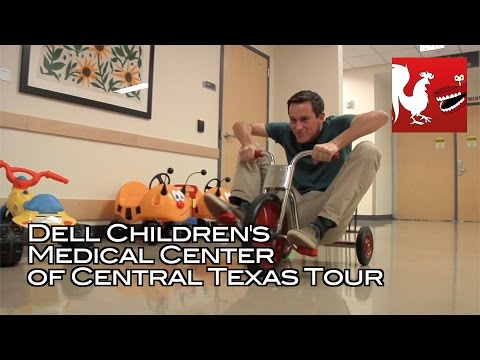 center - Jack, Caiti, and Caleb take a tour of Dell Children's Medical Center of Central Texas and interview some of the hospital staff and guests. RT Store: http://bit.ly/1vduQ60 Rooster Teeth: http://ro...