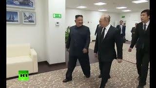 Historic meeting: Putin, Kim walk through Vladivostok summit venue