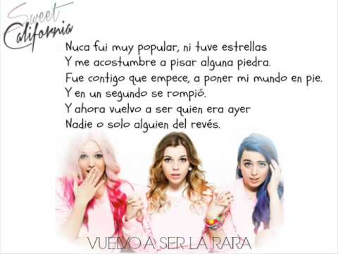 Video Sweet California - Vuelvo a ser la rara (Letra) download in MP3, 3GP, MP4, WEBM, AVI, FLV January 2017
