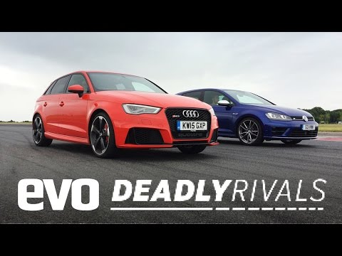 deadly rivals: audi rs3 vs volkswagen golf r - incredible race!