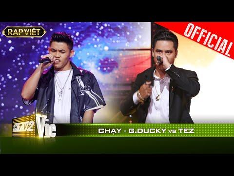 JustaTee sởn da gà vì màn vs địa chấn của GDucky và Tez với bản rap Chạy| RAP VIỆT [Live Stage]
