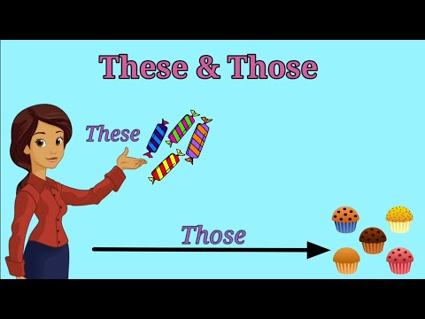 These and Those English Grammar For Kids | Use Of These and Those