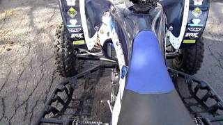 7. My new yamaha 2010 Yfz450r SE walk around and fly by