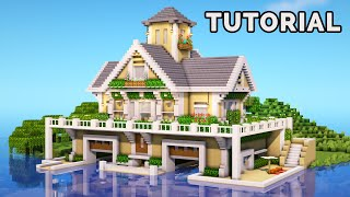 Minecraft: How To Build A Modern Suburban Boat House Tutorial!