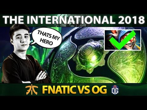Abed Meepo GOD First Time On The International 2018 - Fnatic vs OG - #TI8 Dota 2 (видео)