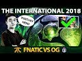 Abed Meepo GOD First Time On The International 2018 - Fnatic vs OG - #TI8 Dota 2
