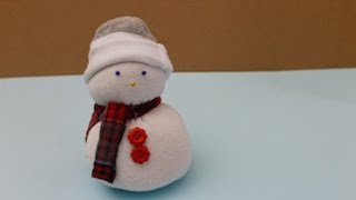 Upcycle all those odd socks in your laundry basket by making a sock snowman for winter. This is a fun rainy day activity that requires no sewing: Just string...