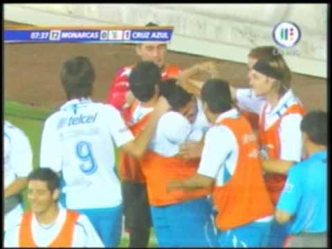 Gol escorpión Luis Ángel Landín Cruz azul vs Morelia