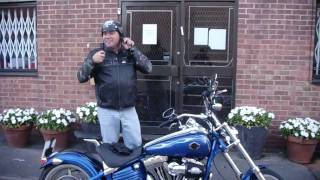 10. Nick's new Harley Davidson Rocker C 2009
