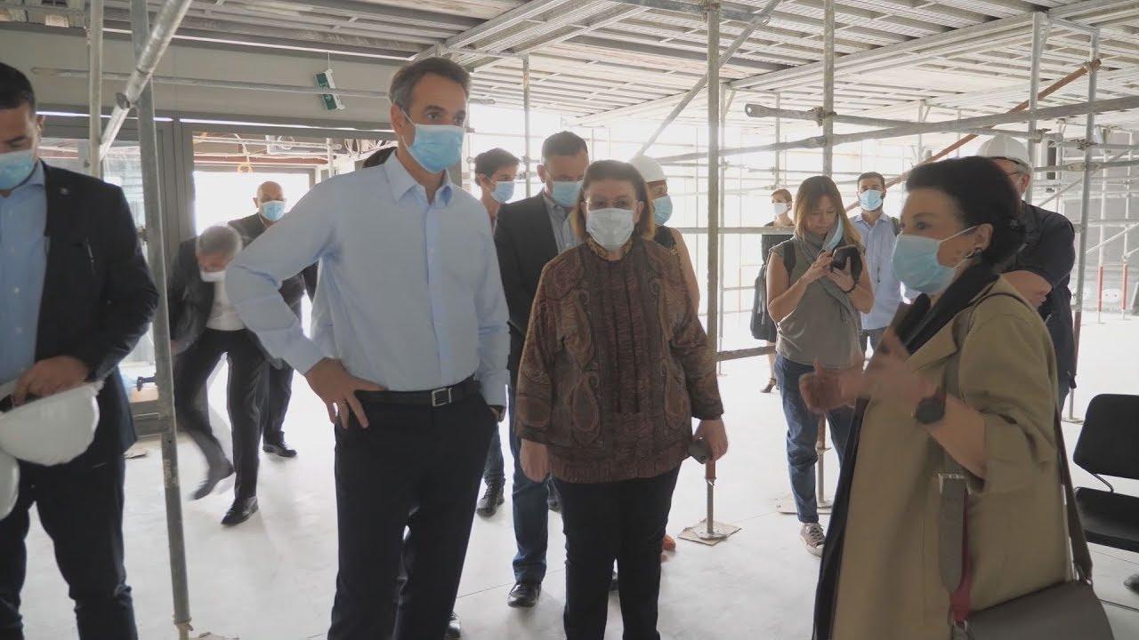 Επίσκεψη του Κυριάκου Μητσοτάκη στα έργα για τις νέες εγκαταστάσεις της Εθνικής Πινακοθήκης