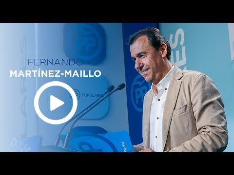 """Maillo: """"Algunos pretenden desalojar al Gobierno con excusas, poniendo patas arriba España"""""""