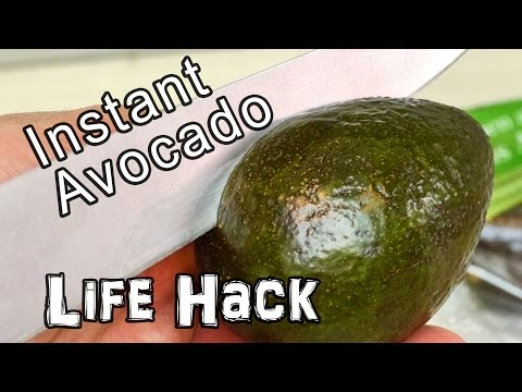 Instantly Ripe Avocado Life Hack