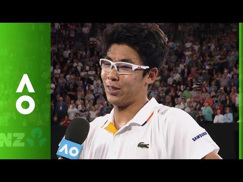 Hyeon Chung on court interview (4R) | Australian Open 2018