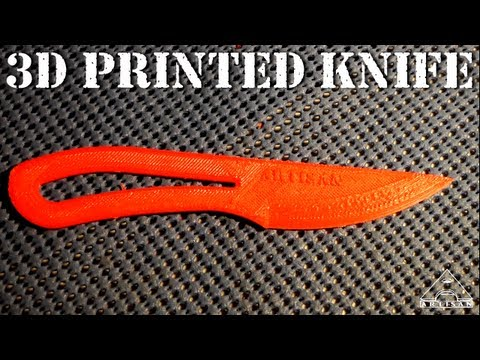 3D Printed Knife – Will It Cut Paper?