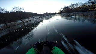 Экстрим 80 км.ч по льду
