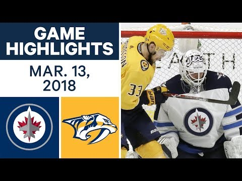 Video: NHL Game Highlights | Jets vs. Predators - Mar. 13, 2018