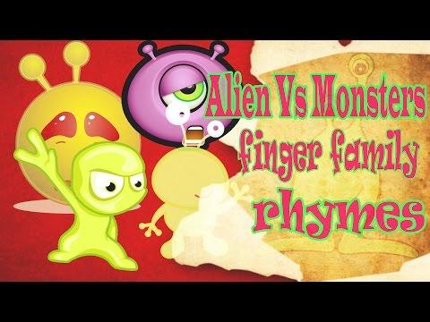 Alien Vs Monsters Finger Family Rhymes | Finger Family Rhymes | Finger Family Nursery Rhymes |