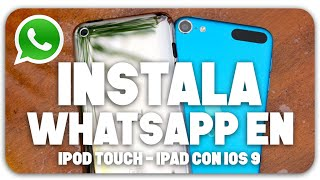 Whatsapp en iPad • iPod Touch con iOS 9 (2016), ios 9, ios, iphone, ios 9 ra mat