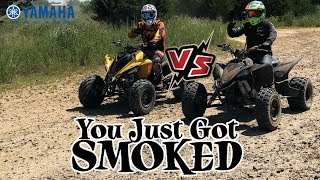 3. Yamaha Raptor 700R vs YFZ450R  WOW!