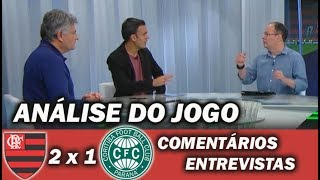 Flamengo 2 x 1 Coritiba * Pós Jogo * Entrevistas Comentários Análises