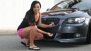 Tara uses touch-up paint to repair the deep paint chips on the front of her 2007 BMW 335i E93. She used Dr. ColorChip Automotive Paint Repair Kit for the first time.