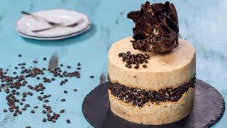 Chocolate Mocha Fault Line Cake with Chocolate Sail