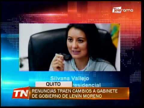 Renuncias traen cambios a gabinete de gobierno de Lenín Moreno