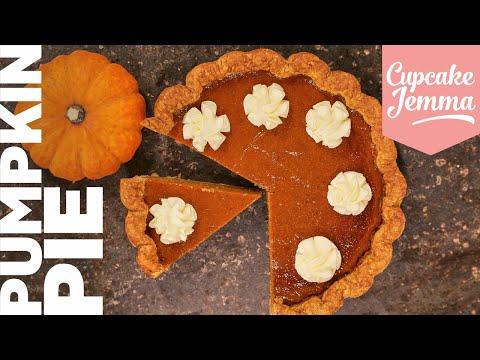 Make your Pumpkin Pie from Scratch!   Full Recipe   Cupcake Jemma Channel
