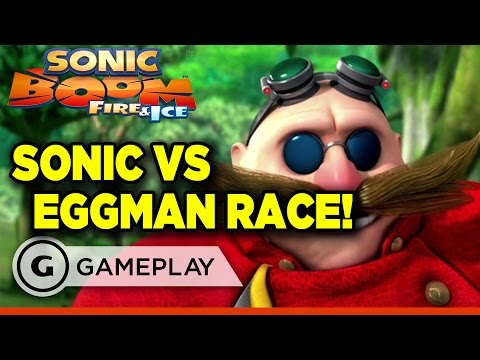 Sonic Boom: Fire and Ice Doctor Eggman Race Gameplay