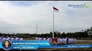 Di Nagan Raya, Pengibaran Bendera Merah Putih tak Sampai di Puncak Tiang