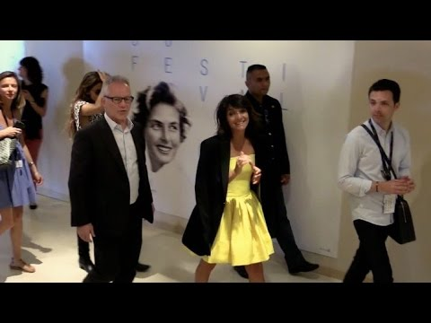 Florence Foresti and rest of the cast enter The Little Prince press conference in Cannes