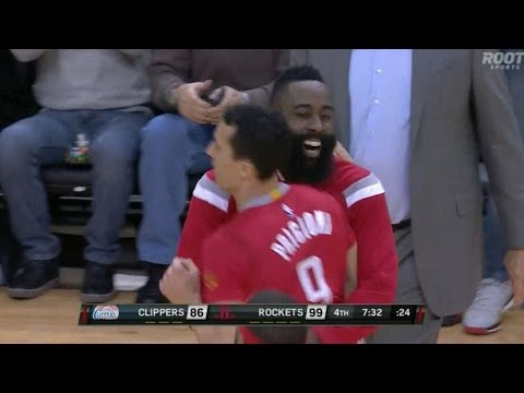 Pablo Prigioni runs pick-and-roll with Donatas Motiejunas
