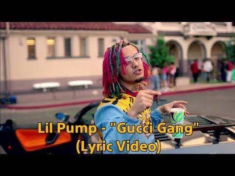"""Lil Pump - """"Gucci Gang""""(Lyric Video)"""