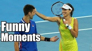 Ana Ivanovic , Novak Djokovic Fuuny Moments