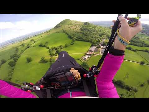 Paragliding In Pandy Wales - Very Weak Thermals