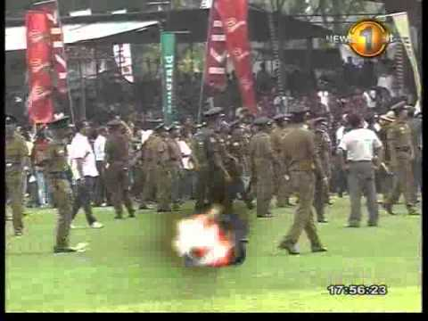 Spectator violence during the Ananda-Nalanda big match