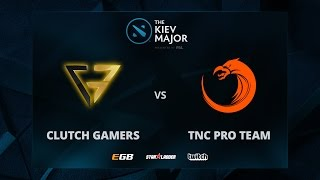 Clutch Gamers vs TNC Pro Team, Game 1, The Kiev Major SEA Main Qualifiers Play-off