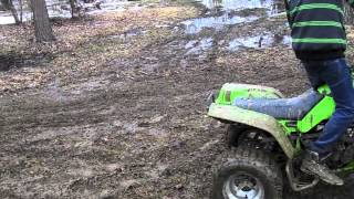 1. KAWASAKI MOJAVE 250 HOME MADE RACE TRACK