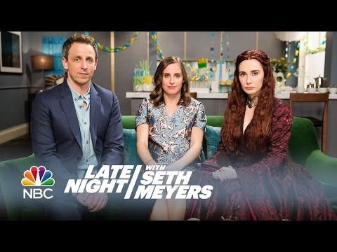 Seth Meyers Invites Melisandre from Game of Thrones to His Baby