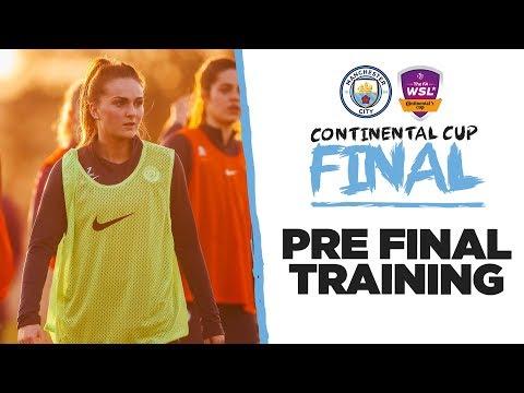 Video: PRE FINAL TRAINING | Conti Cup Final | Man City Prepare for Arsenal!