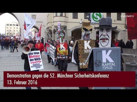 München 2016: Münchner Sicherheitskonferenz | Demo  ...
