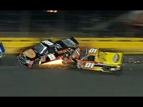 charlotte - Hornaday and Crum crash at Charlotte! For more NASCAR news, check out: http://www.NASCAR.com.